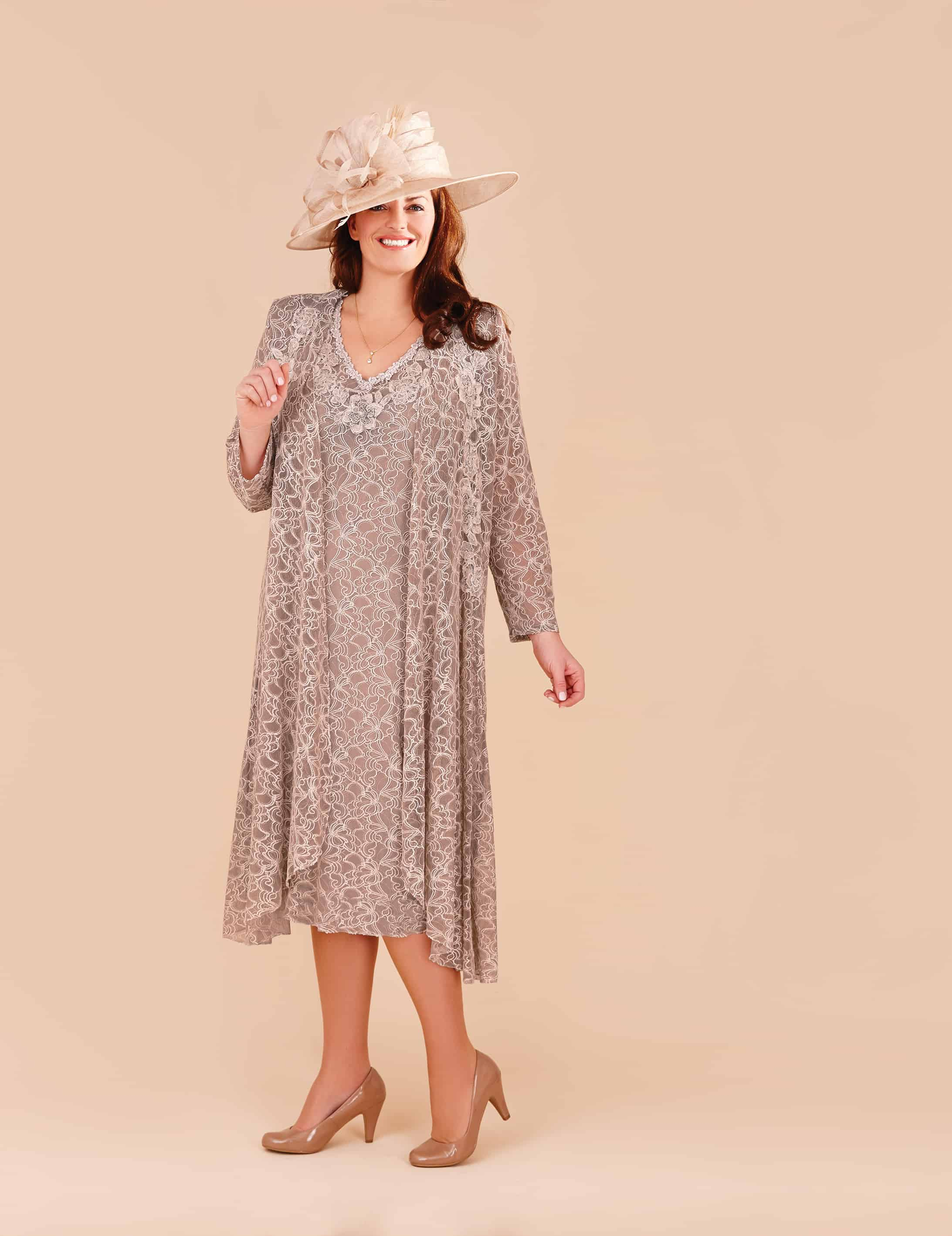 Mid length Italian lace dress and coat
