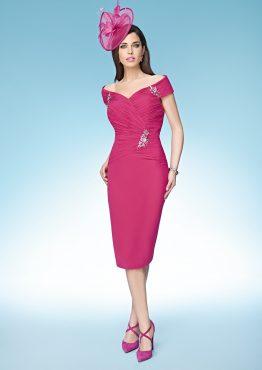 Off the shoulder knee length dress. 70985 (007160)
