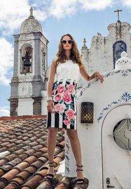 Knee length dress with jacket. 8840 (003991)