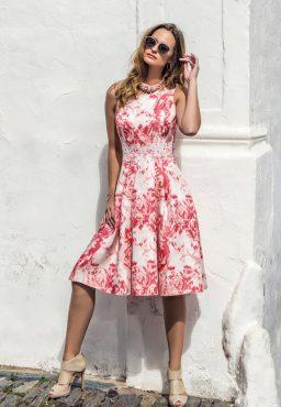 Tea length dress with jacket. 8803/8869 (004023)