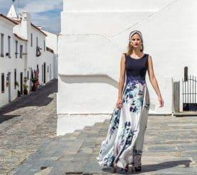 Long silk dress with wrap. 8832 (003977)