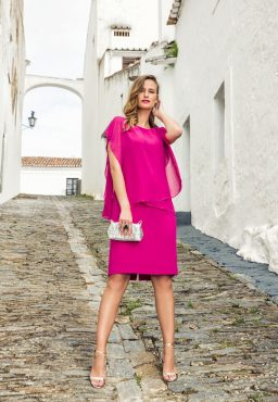 Knee length chiffon dress. 8806 (004089)