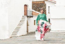 Chiffon 3 piece skirt suit. 8850/8852/8855 (003993)