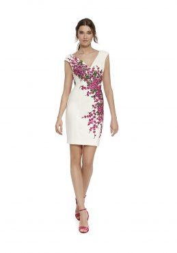 Knee length dress with jacket. 9441/9456 (003510)