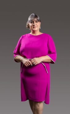 Sophisticated with that splash of elegance. This gorgeous dress has a round neck, sleeveless and slight split at the back adding a touch of glamour and a stunning diamante tipped separate cape which is waist length at the front and floats down longer at the back - fuchsia, royal blue and sky blue - 6080-3-3902-0359 (003890)