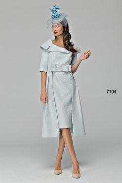 Blue dress with peplum skirt 7104 (004697)