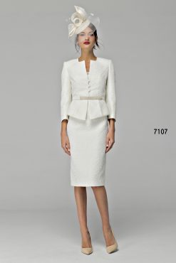 Dress and jacket with pearl detail 7107 (004695)